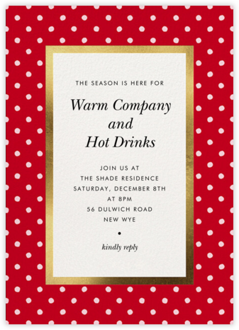 Perfect Spots - Maraschino - kate spade new york - Holiday invitations