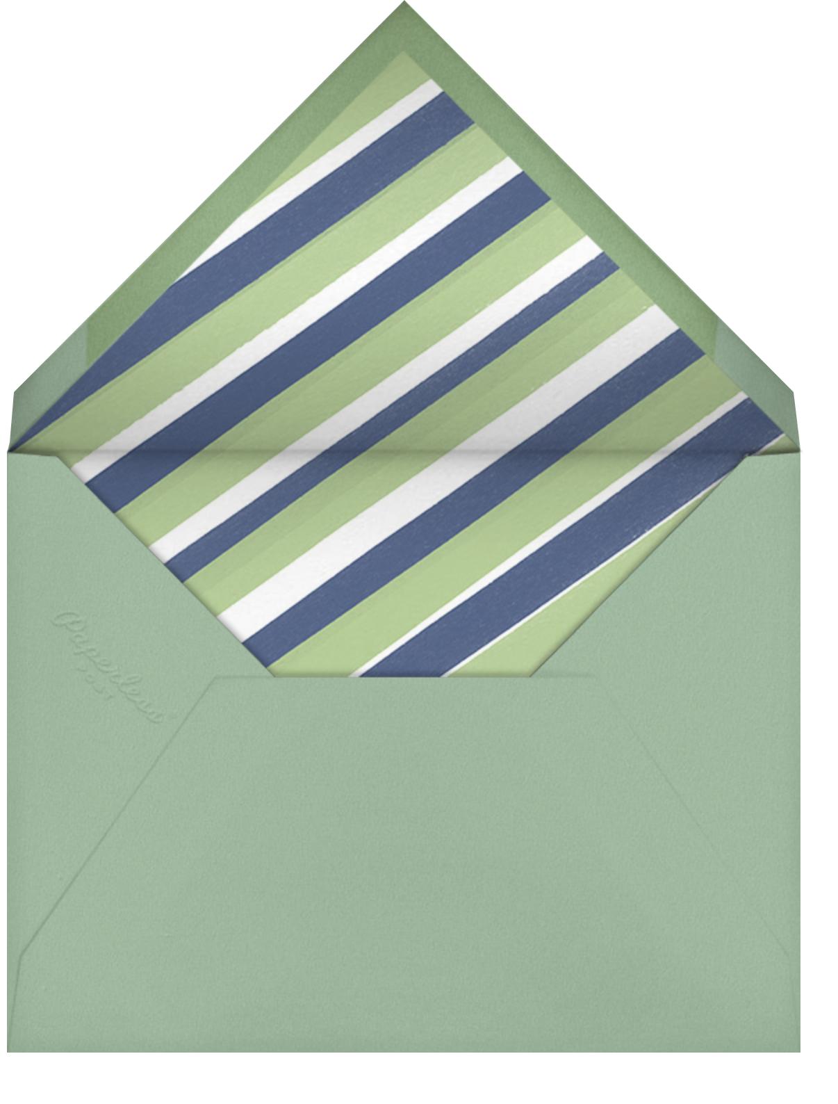Thoroughbred Birthday - Sage/Tan - Paperless Post - Envelope