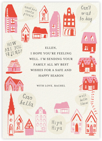Pink Houses - Mr. Boddington's Studio - Thinking of you cards