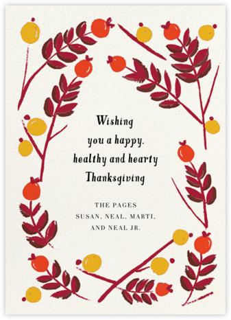 Berry Frame - Flame - Mr. Boddington's Studio - Thanksgiving Cards