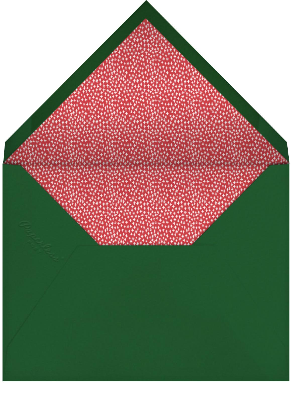 Berry Frame - Crimson - Mr. Boddington's Studio - Holiday cards - envelope back