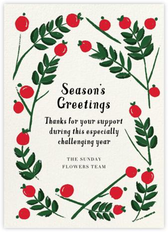 Berry Frame - Crimson - Mr. Boddington's Studio - Company holiday cards