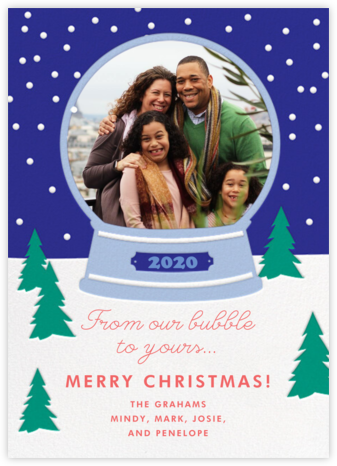Snow Bubble - Cheree Berry - Photo Christmas Cards