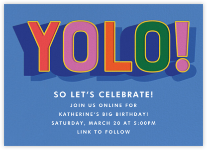 Bold Yolo - Cheree Berry - Adult Birthday Invitations