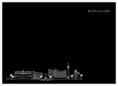 Las Vegas Skyline View (Stationery) - Black/White | null