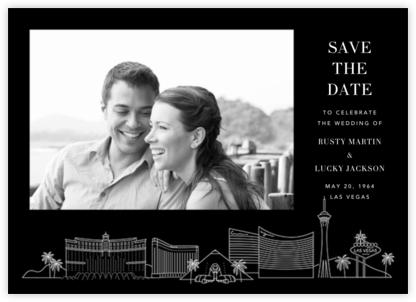 Las Vegas Skyline View (Photo Save the Date) - Black/White - Paperless Post -