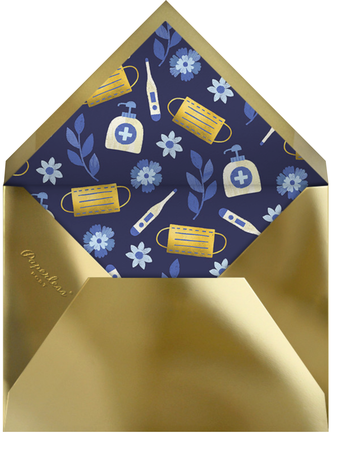Golden Latkes - Paperless Post - Hanukkah - envelope back