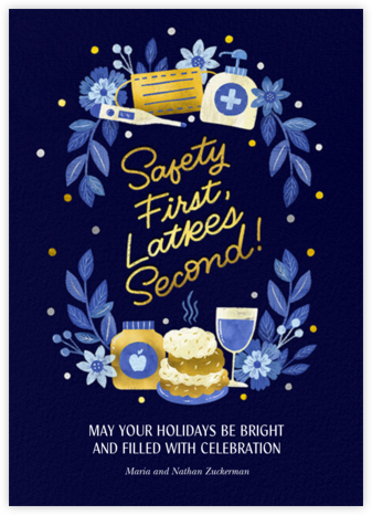 Golden Latkes - Paperless Post - Hanukkah Cards