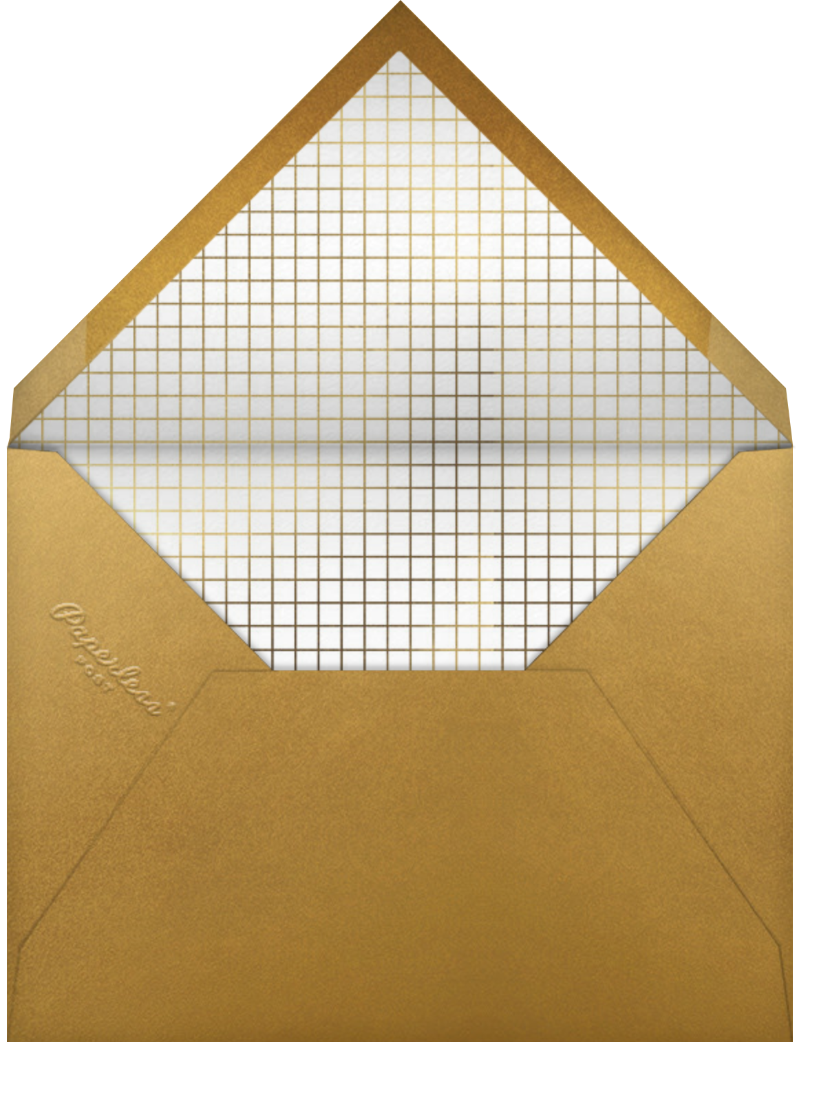 Five Windows - Paperless Post - Holiday cards - envelope back