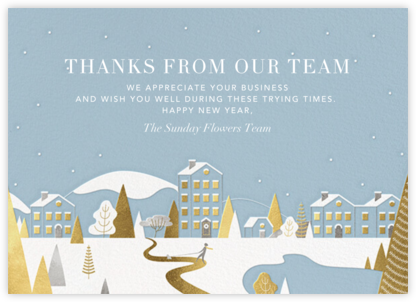 Winter Horizon - Paperless Post - Covid Christmas Cards