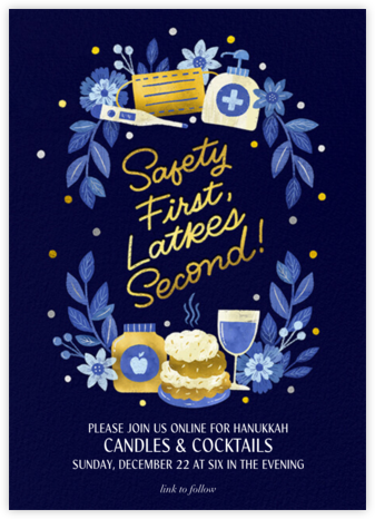 Golden Latkes - Invitation - Paperless Post - Virtual Parties
