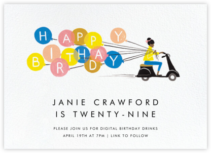 Birthday Scooter - Tan - Rifle Paper Co. - Adult Birthday Invitations