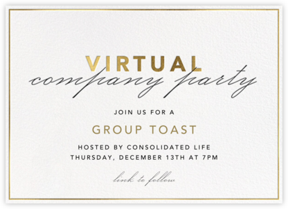 Shining Gold - Virtual - Paperless Post - Company holiday party