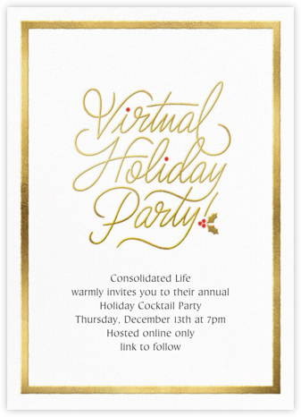 Spirited Script - Virtual - Paperless Post - Company holiday party