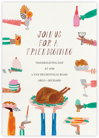 Hands Full - Mr. Boddington's Studio - Thanksgiving invitations