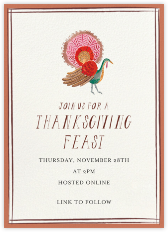 Regal Turkey - Mr. Boddington's Studio - Thanksgiving invitations