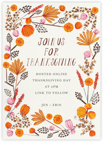 Autumn Foliage - Mr. Boddington's Studio - Thanksgiving invitations