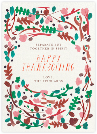 Foraged Frame - Greeting - Mr. Boddington's Studio - Thanksgiving Cards