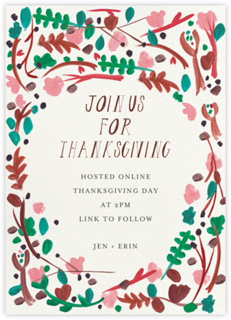 Foraged Frame - Mr. Boddington's Studio - Thanksgiving invitations