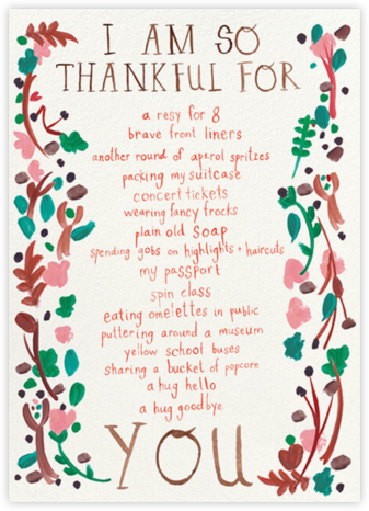 Thankful Branches - Mr. Boddington's Studio - Thanksgiving Cards