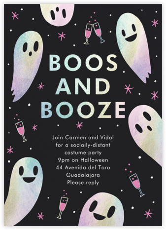 Boozy Nights - Hello!Lucky - Halloween invitations