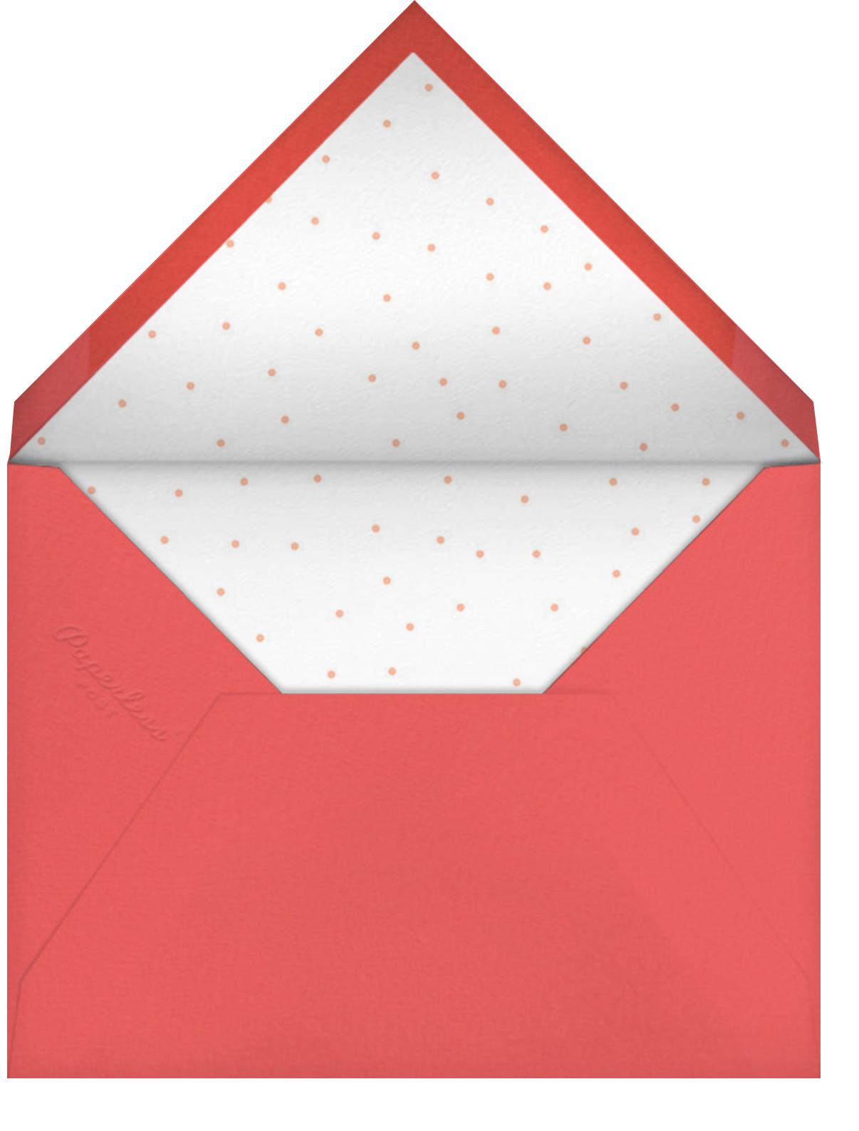 Hologram Shimmer - Hello!Lucky - Thanksgiving - envelope back