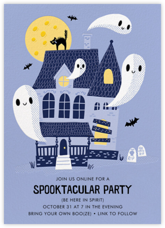 Ghostly Estate - Hello!Lucky - Halloween invitations