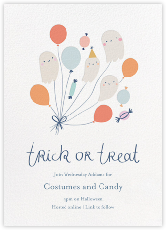 Boo-loons - Little Cube - Halloween invitations