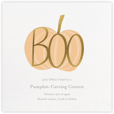 Pumpkin Boo - Little Cube - Halloween invitations