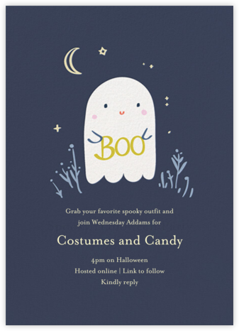 Boo Buddy - Little Cube - Halloween invitations