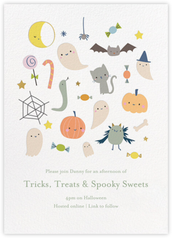 Freaky Friends - Little Cube - Halloween invitations