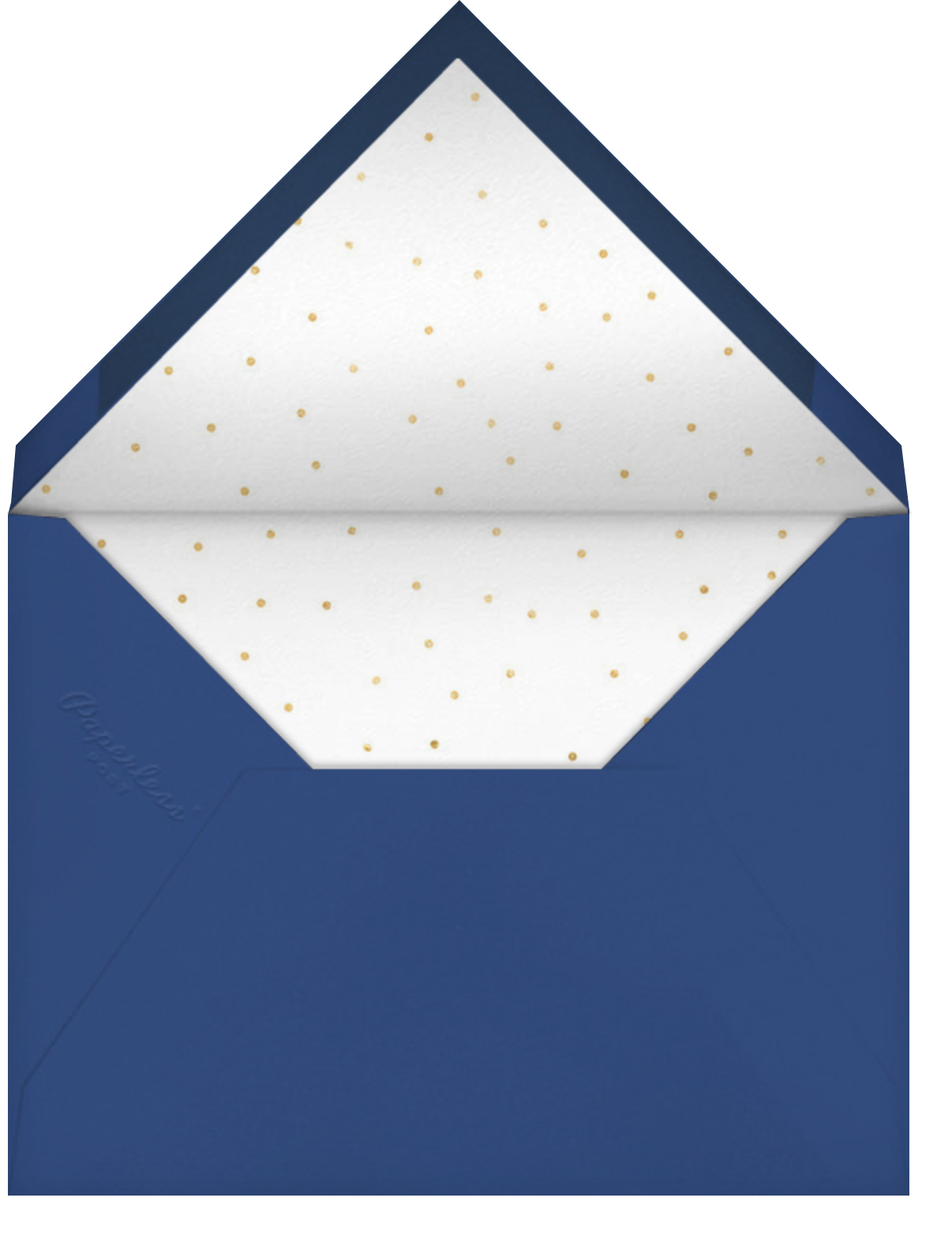 Golden Snow - Dark Blue - Paperless Post - Business holiday cards - envelope back