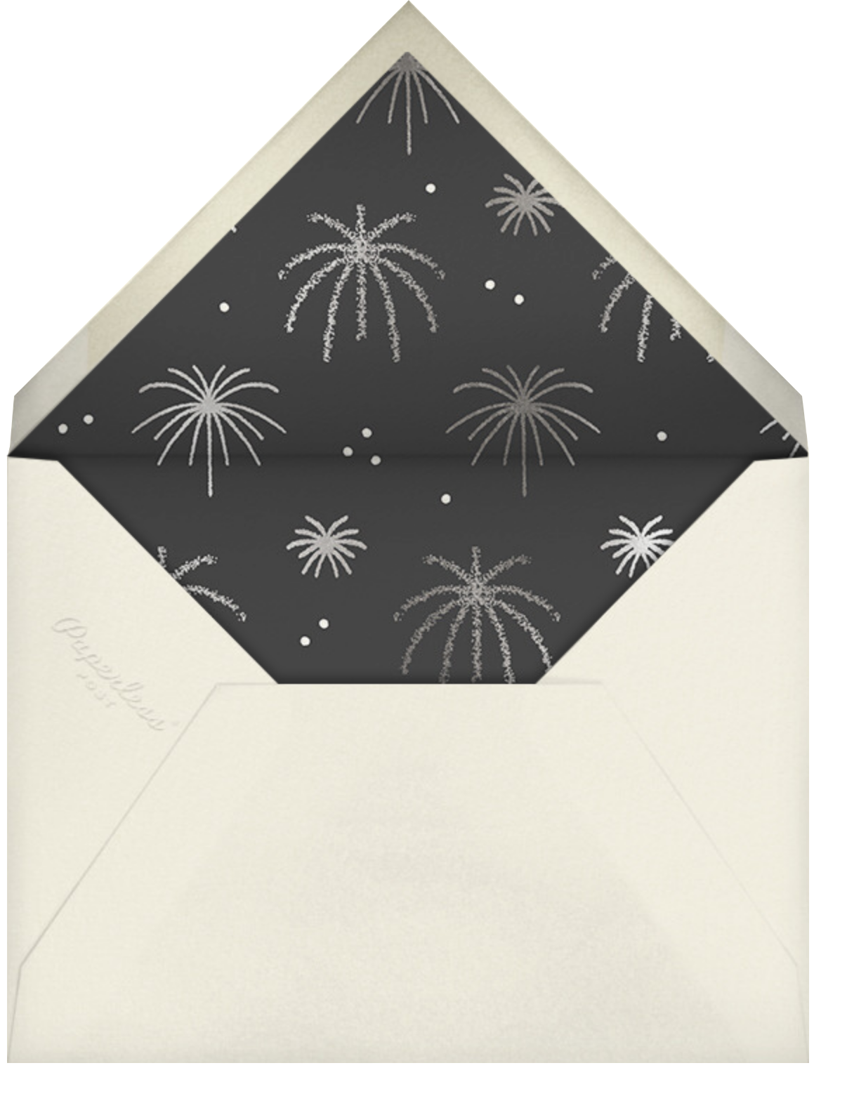 Foil Fireworks - Paperless Post - New Year's Eve - envelope back