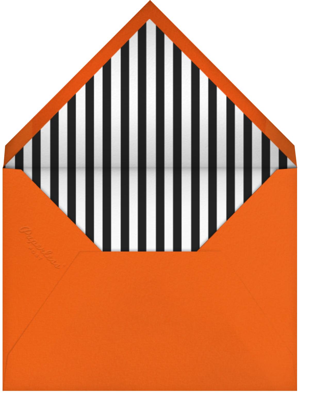 Pumpkin Club - Meri Meri - Halloween - envelope back