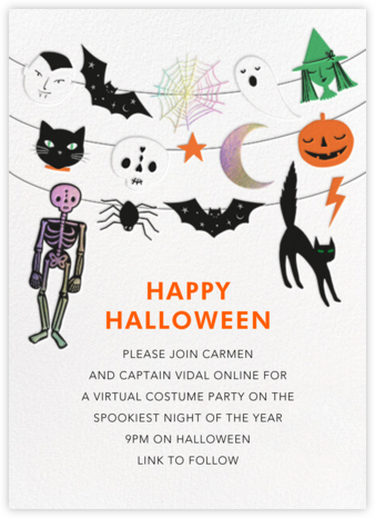Spooky Garland - Meri Meri - Halloween invitations