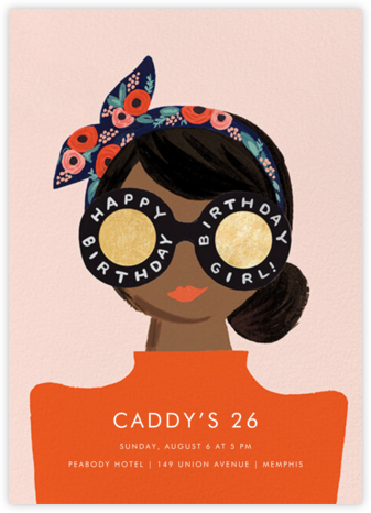 Birthday Shades - Tan - Rifle Paper Co. - Adult Birthday Invitations