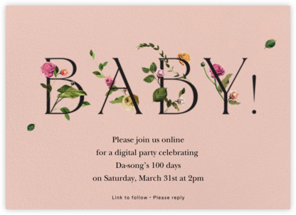 Bambino - Pavlova - Venamour - 100 Day Celebration Invitations