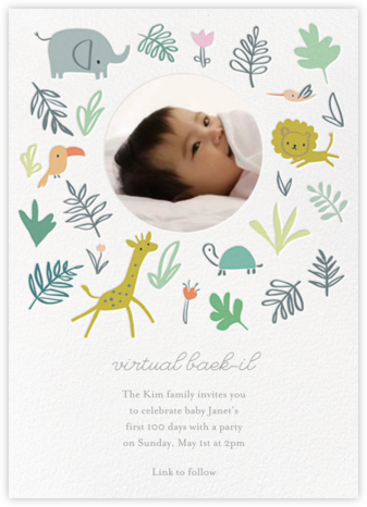 Jungle Love Photo - Little Cube - Invitations