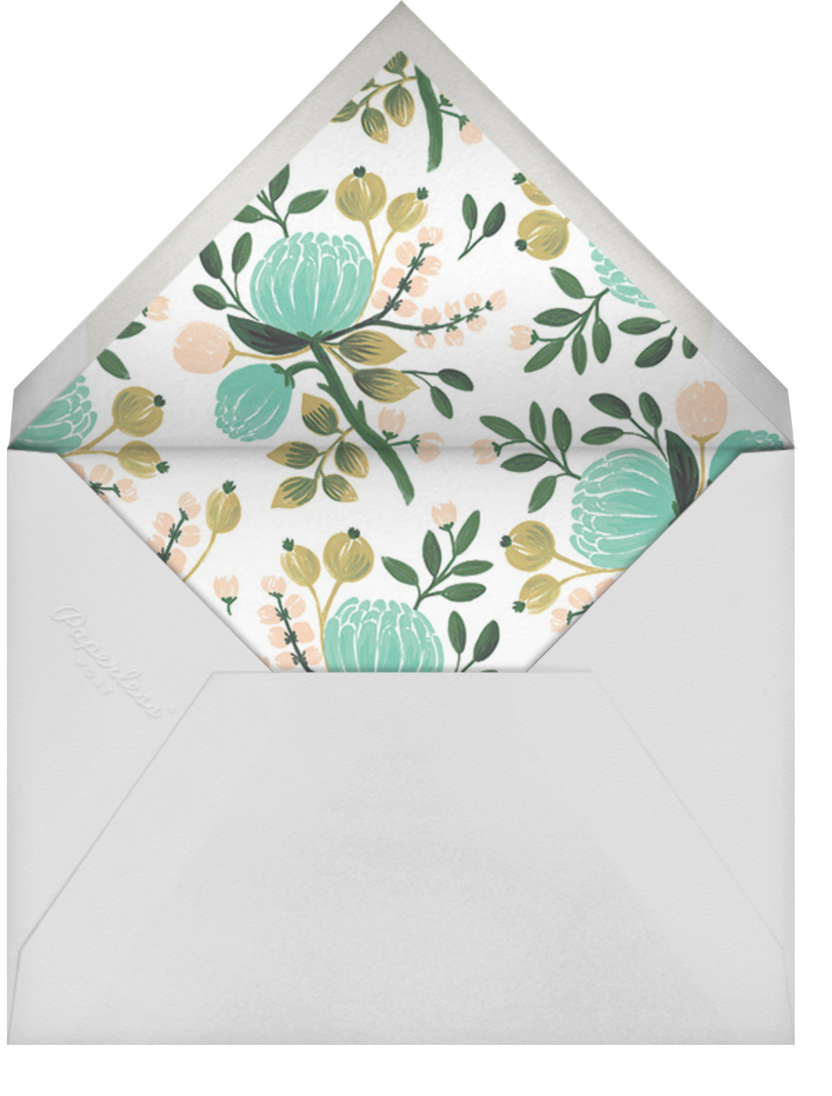 Blue Blooms (Photo) - Rifle Paper Co. - 100 day celebrations - envelope back