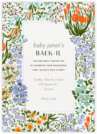 Moor Heather (Tall) - Anthropologie - 100 Day Celebration Invitations