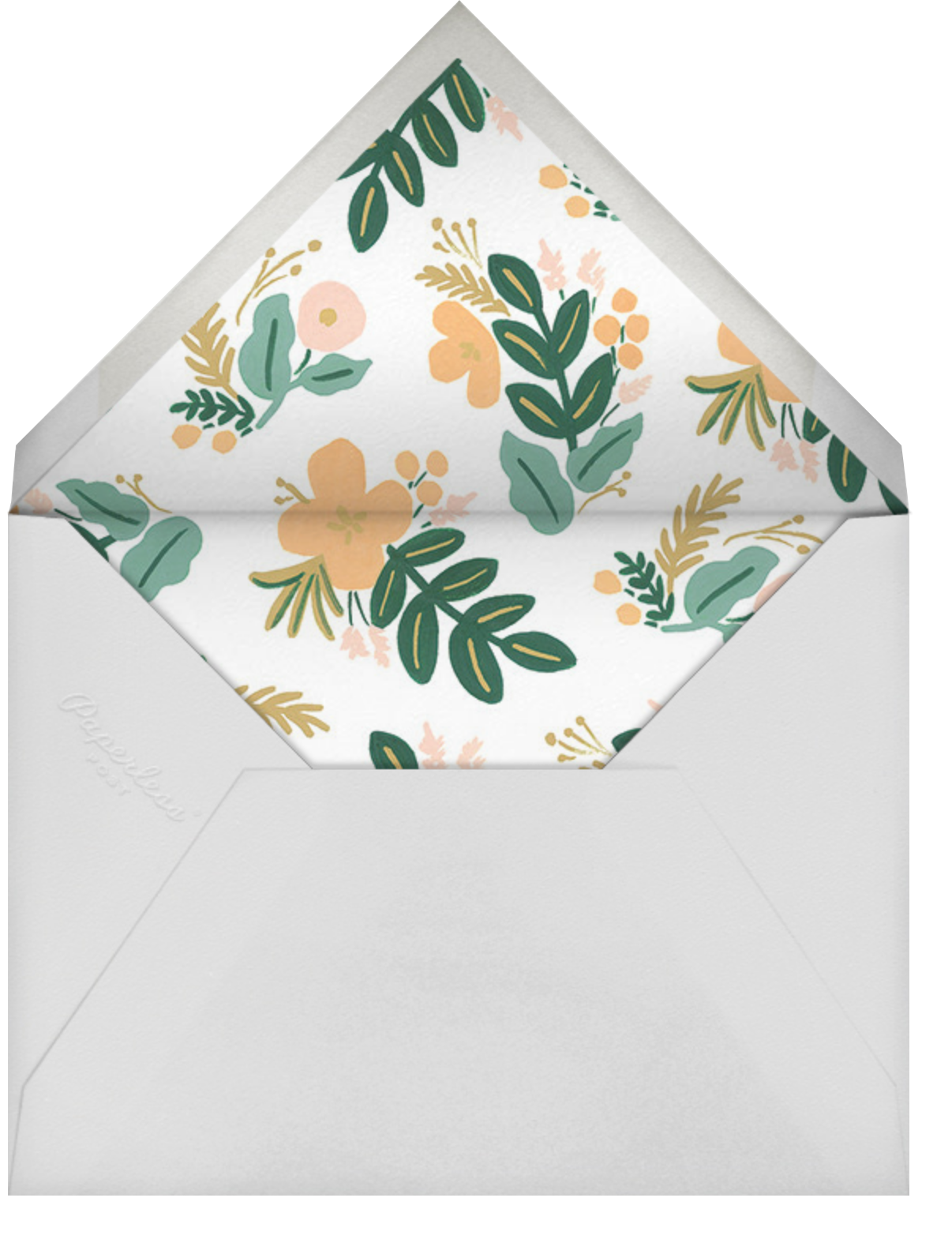 Festive Fauna - Rifle Paper Co. - 100 day celebrations - envelope back
