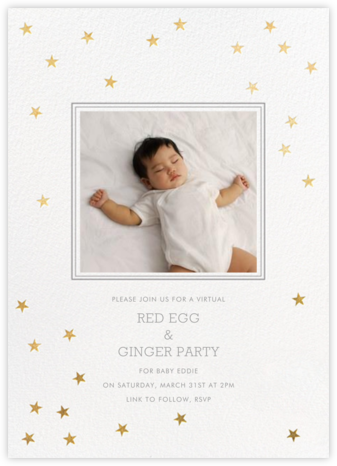 Starry First Birthday - Sugar Paper - 100 Day Celebration Invitations