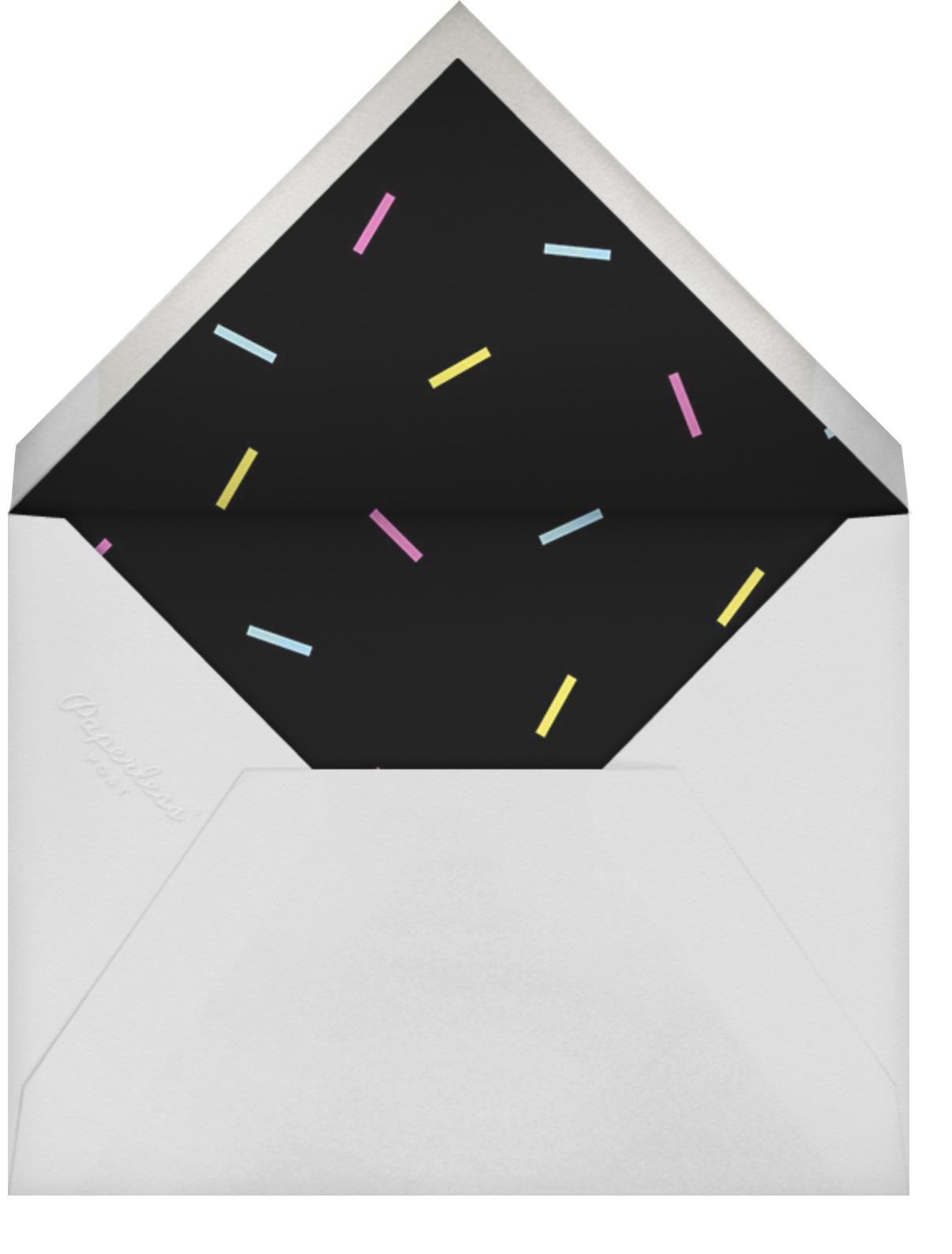 Milestone Portrait (One Hundred) - Celadon - Paperless Post - 100 day celebrations - envelope back
