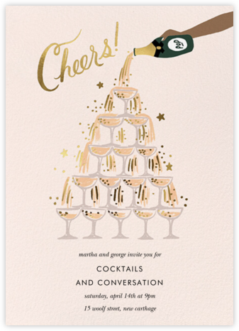 Champagne Tower - Tan - Rifle Paper Co. - Rifle Paper Co. Invitations