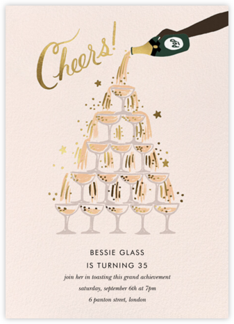 Champagne Tower - Deep - Rifle Paper Co. - Birthday invitations