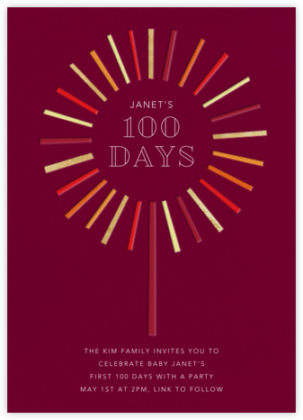 Night of the Sparkler - Paperless Post - 100 Day Celebration Invitations