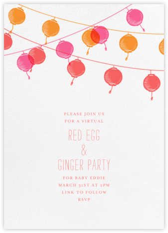 Lanterns - Paperless Post - 100 Day Celebration Invitations