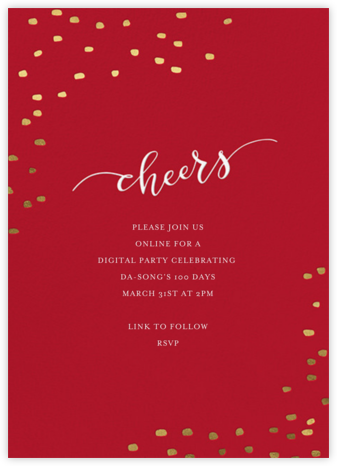 Holiday Cheers - Sugar Paper - 100 Day Celebration Invitations