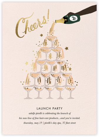Champagne Tower - Deep - Rifle Paper Co. - Launch Party Invitations