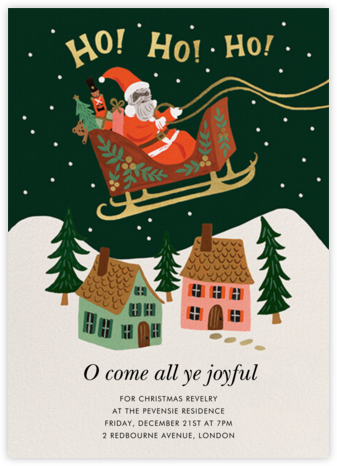Christmas Delivery - Deep - Rifle Paper Co. - Online Party Invitations